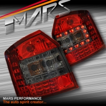 Smoked Red LED Tail Lights for AUDI A4 S4 B6 AVANT Sports Station Wagon