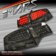 Smoked Black LED Tail Lights for AUDI A4 S4 RS4 S-Line B7 05-08 Sedan KS