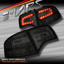 Smoked Black LED Tail Lights with LED Indicators for AUDI A4 S4 RS4 S-Line B7 05-08 4 doors Sedan