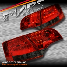 Smoked Red LED Tail Lights for AUDI A4 S4 RS4 S-Line B7 AVANT Sports Station Wagon KS