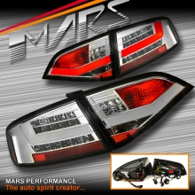 Crystal Clear 3D LED Stripe Tail Lights for AUDI A4 B8 4D Sedan 08-12 (Replace Stock Non-LED Lights)