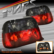 Smoked Red Tail Lights for BMW 3-Series E36 Hatch Compact Model 316Ti & 318Ti