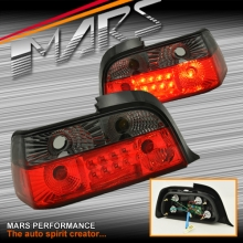Smoked Red 3D LED Tail lights for BMW 3-Series E36 2 Doors Coupe