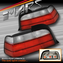 Crystal Red M3 Style Tail Lights for BMW E36 2 Doors Coupe & Convertible