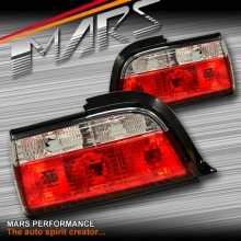 Clear Red M3 Style Tail Lights for BMW E36 4 doors Sedan RL