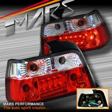 Clear Red LED Tail lights for BMW 3-Series E36 4 Doors Sedan