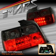 Smoked Red LED Tail lights for BMW 3-Series E36 4 Doors Sedan