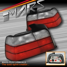 Crystal Red M3 Style Tail Lights for BMW E36 4 Doors Sedan KS