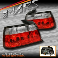 Clear Red Tail lights for BMW 3-Series E36 4 Doors Sedan