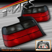 Smoked Red M3 Style Tail Lights for BMW E36 4 Doors Sedan KS