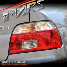 Clear Red LED Tail Lights for BMW 5-Series E39 Sedan 95-00 KS