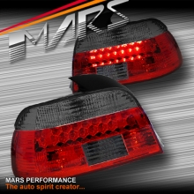 Smoked Red M5 Style LED Tail Lights for BMW 5-Series E39 Sedan 95-00