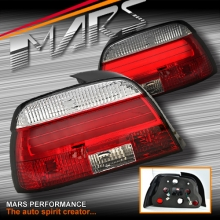 Clear Red 3D LED Stripe Bar Tail Lights for BMW 5-Series E39 Sedan 95-00