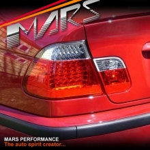 Clear Red LED Tail Lights for BMW 3-Series E46 02-04 LCI Update 4 doors Sedan