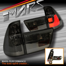 Smoked Black 3D Stripe Bar LED Tail Lights for BMW X5 E53 00-03