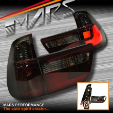 Smoked Red 3D Stripe Bar LED Tail Lights for BMW X5 E53 00-03