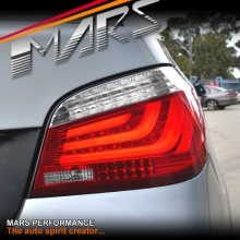 Clear Red 3D Stripe Bar LED Tail Lights for BMW 5-Series E60 Sedan 03-07