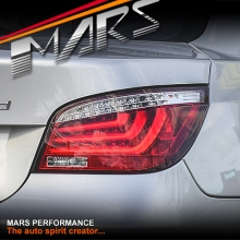 Clear Red 3D Stripe Bar LED Tail Lights for BMW 5-Series E60 Sedan 03-07 Pre LCI JY