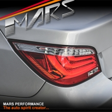 Clear Red 3D Stripe Bar LED Tail Lights for BMW 5-Series E60 Sedan 08-10 LCI JY