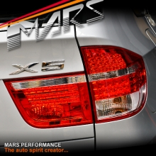 Clear Red LED Tail Lights with Stripe for BMW X5 E70 07-10 Pre LCI