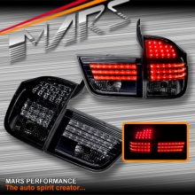 Full Smoked LED Tail Lights with Stripe Bar for BMW X5 E70 07-10 Pre LCI