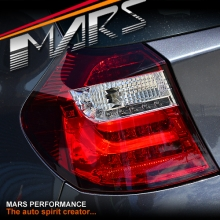 Clear Red 3D LED Tail lights for BMW 1 Series E81 E87 Hatch