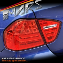 M3 LCI Style 3D LED Stripe Tail Lights for BMW 3-Series E90 Sedan 05-08 Pre LCI