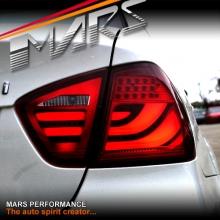 Full Red 3D Stripe Bar LED Tail Lights for BMW 3-Series E90 Sedan Pre LCI 05-08