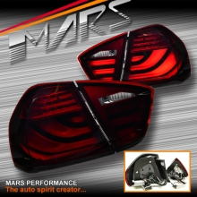 Red Smoked 3D Stripe Bar LED Tail Lights for BMW 3-Series E90 Sedan Pre LCI 05-08