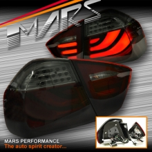 Smoked Red 3D Stripe Bar LED Tail Lights for BMW 3-Series E90 Sedan Pre LCI 05-08