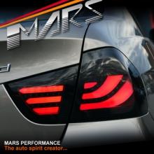 Smoked Black 3D Stripe Bar LED Tail Lights for BMW 3-Series E90 LCI Sedan 09-11