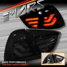 Smoked Black 3D Stripe Bar LED Tail Lights for BMW 3-Series E91 Wagon 05-08 Pre LCI Update
