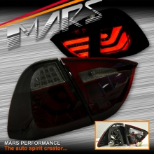 Smoked Red 3D Stripe Bar LED Tail Lights for BMW 3-Series E91 Wagon 05-08 Pre LCI Update