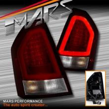 Clear Red 3D LED Bar Stripe Tail Lights for CHRYSLER 300C Sedan Series 2 09-12