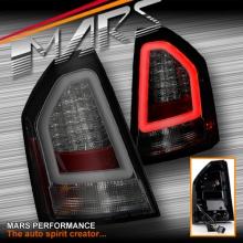 Full Smoked 3D LED Bar Stripe Tail Lights for CHRYSLER 300C Sedan Series 2 09-12