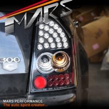 Black LED Tail Lights for CHRYSLER 300C Sedan Series 2 09-12