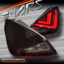 Smoked Red 3D Stripe LED Tail Lights for Ford Fiesta WT WZ 09-14 Hatch Back
