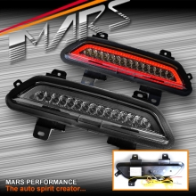 MARS Smoked Full LED Rear Fog & Reverse Tail lights for Ford Mustang FM 2015-2017