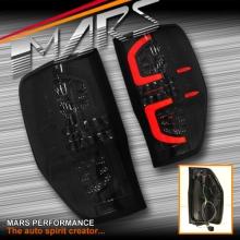 Smoked Black 3D Stripe Bar Full LED Tail Lights for Ford Ranger PX T6 11+ MK1 and MK2