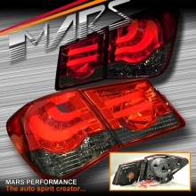 Smoked Red 3D LED Stripe Bar Tail Lights for Holden Cruze Sedan 09-16 JG JH