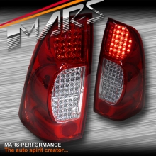 Clear Red LED Tail Lights for Holden Redeo or Isuzu D-MAX 07-12