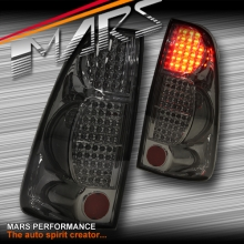 Smoked Black LED Tail Lights for Holden Rodeo or Isuzu D-MAX 07-12