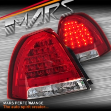 Clear Red LED Tail Lights for Holden Statesman WM 06-10