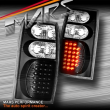 Black LED Tail Lights for Holden Commodore VT VX VU VY VZ Ute & Wagon