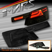 Smoked Black 3D LED Stripe Trunk & Tail Lights for Honda Accord Sedan 08-13