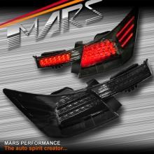 Smoked Black LED Trunk & Tail Lights for Honda Accord Sedan 08-13
