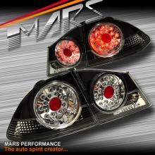 Black LED Tail Lights for Honda Civic FD Sedan 06-12