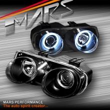 Black CCFL Angel-Eyes Projector Head Lights for Honda Integra DC2 98-01