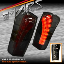 Smoked Black LED 3D Stripe Tail lights for Isuzu D-Max UTE 12-15