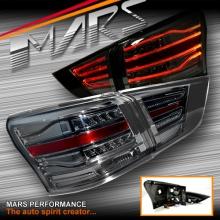 Smoked Black LED 3D Stripe Bar Tail Lights for Isuzu MU-X 2013-2016